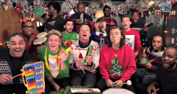One Direction, Jimmy Fallon & The Roots Sing 'Santa Claus Is ...