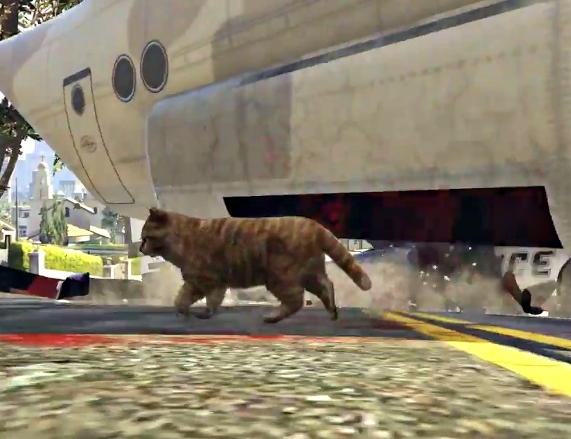 what gta 5 would look like if you were playing as a cat