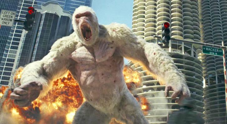 The new 'Rampage' trailer features plenty of Dwayne Johnson and destructive monsters