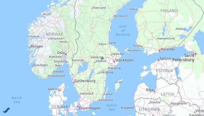 Hallstahammar Laddregion Mlardalen Hallstahammar karta